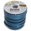 Flat Leather 5X2mm (10m Spool) Metallic Navy Blue